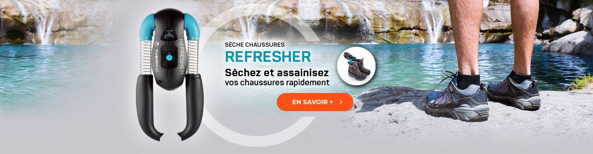 Séchez rapidement vos chaussures de randonnée avec le Refresher !